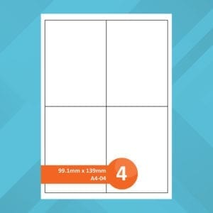 A4-04 Sheet Labels