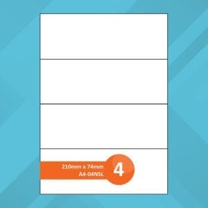 A4-04NSL Sheet Labels