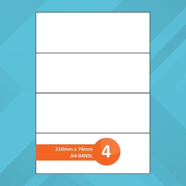 A4-04NSL Sheet Labels
