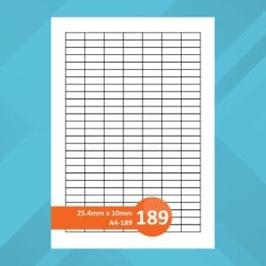 A4-189 Sheet Labels | Printer Labels | PEFC Certified | Crown Labels